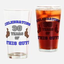 Celebrating 90th Birthday For Men Drinking Glass