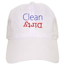Clean Dirty Dishwasher Red Blue Becky's Fave Baseball Cap
