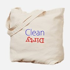 Clean Dirty Dishwasher Red Blue Becky's F Tote Bag