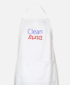 Clean Dirty Dishwasher Red Blue Becky's Fave Apron