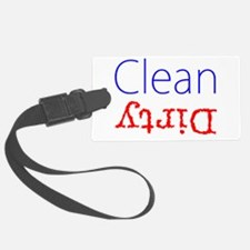 Clean Dirty Dishwasher Red Blue Luggage Tag