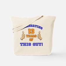 Celebrating 13th Birthday For Men Tote Bag