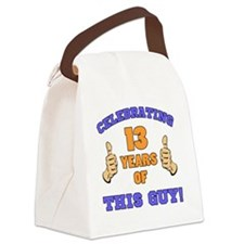 Celebrating 13th Birthday For Men Canvas Lunch Bag