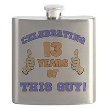 Celebrating 13th Birthday For Men Flask