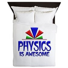 Physics is Awesome Queen Duvet