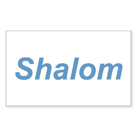 """Shalom"" Rectangle Sticker"