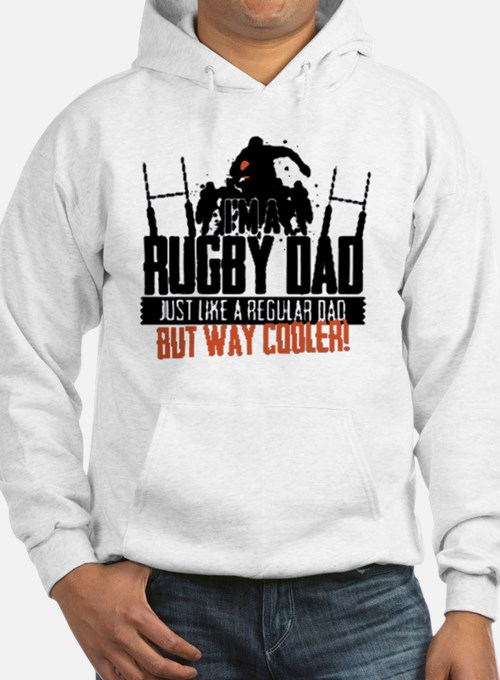 I'm A Rugby Dad, Just Like A Reg Hoodie