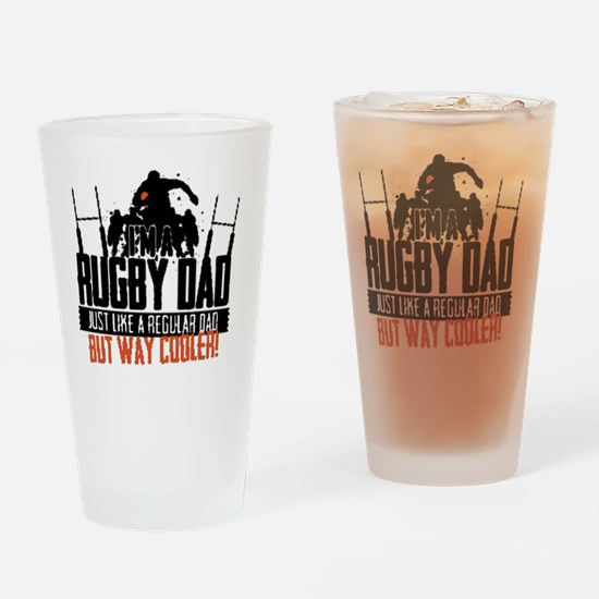 I'm A Rugby Dad, Just Like A Regula Drinking Glass