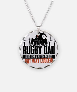 I'm A Rugby Dad, Just Like A Necklace Circle Charm