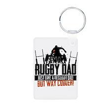 I'm A Rugby Dad, Just Like A Regular Dad Keychains