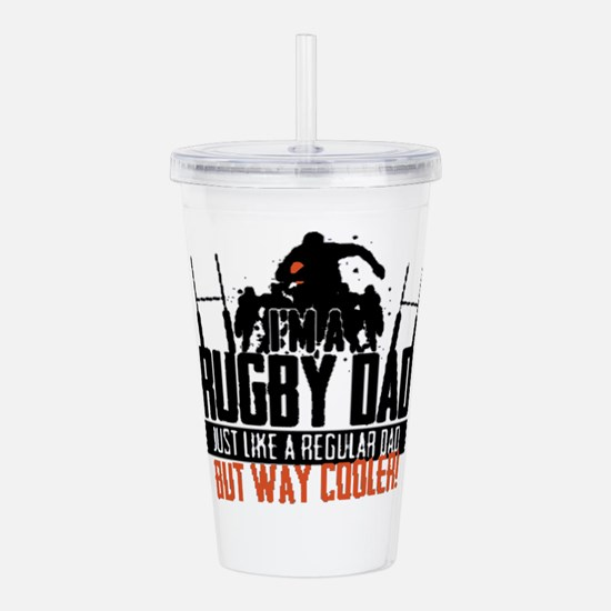 I'm A Rugby Dad, Just Acrylic Double-wall Tumbler