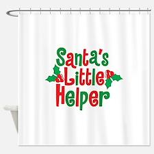 Santas Little Helper Shower Curtain