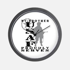 Bro Proudly Serves - USAF Wall Clock