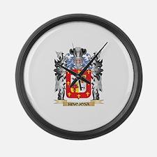 Hinojosa Coat of Arms - Family Cr Large Wall Clock