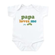 Papa Loves Me Cars Infant Bodysuit