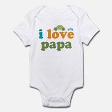 I Love Papa Cars Infant Bodysuit