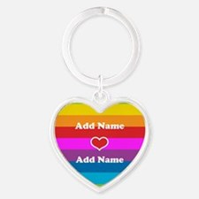 Rainbow Love Heart Keychain