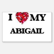 I love my Abigail Decal
