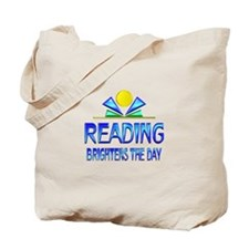 Reading Brightens the Day Tote Bag