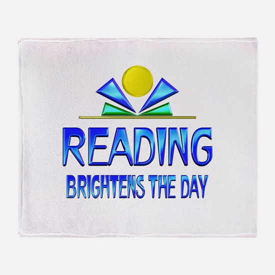 Reading Brightens the Day Throw Blanket