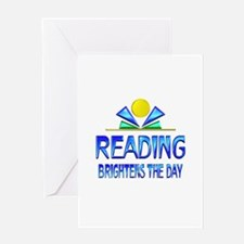 Reading Brightens the Day Greeting Card