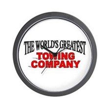 """""""The World's Greatest Towing Company"""" Wall Clock"""