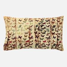Grunge butterflies on wood Pillow Case