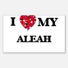 I love my Aleah Decal