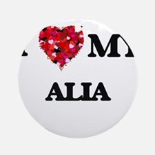 I love my Alia Ornament (Round)