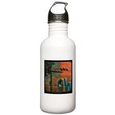 Crow Graffiti Water Bottle