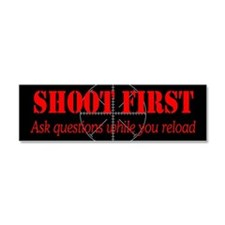ASK QUESTIONS WHILE RELOAD Car Magnet 10 x 3