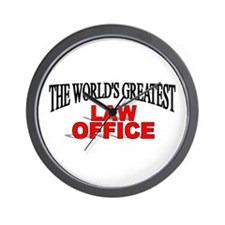 """The World's Greatest Law Office"" Wall Clock"