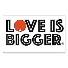 Love is Bigger/Orange Decal