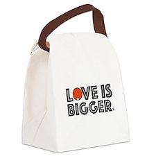 Love is Bigger/Orange Canvas Lunch Bag