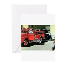 Cute Firefighter Greeting Cards (Pk of 20)