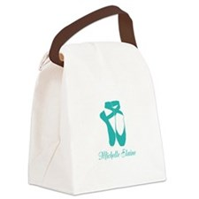 Team Pointe Aqua Personalize Canvas Lunch Bag