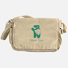 Team Pointe Ballet Aqua Personalize Messenger Bag