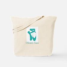 Team Pointe Ballet Aqua Personalize Tote Bag