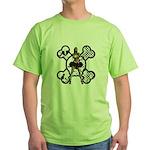 I.Hate.Everyone Green T-Shirt