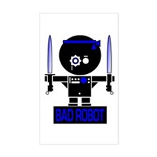 BAD ROBOT SABERS Rectangle Bumper Stickers