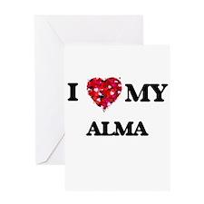 I love my Alma Greeting Cards