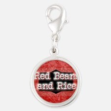 RED BEANS AND RICE Silver Round Charm