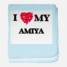 I love my Amiya baby blanket