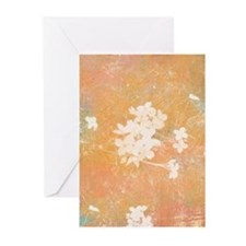 Golden Flowers Greeting Cards (20 Pk)