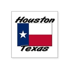 "Funny Houston Square Sticker 3"" x 3"""