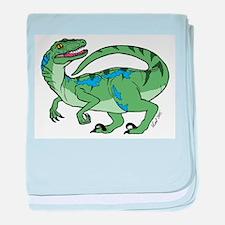 Velociraptor baby blanket