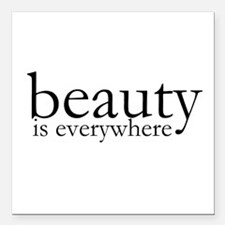 "Beauty Square Car Magnet 3"" x 3"""