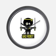 BAD ROBOT SWORDS Wall Clock