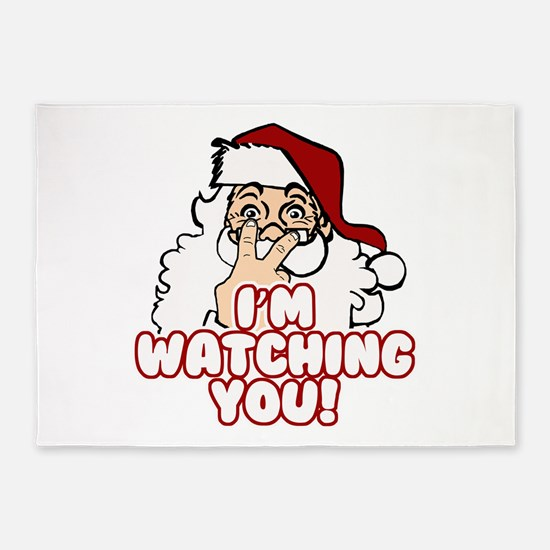 Santa Claus Is Watching You 5'x7'Area Rug