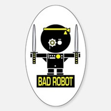 BAD ROBOT SWORDS Oval Decal